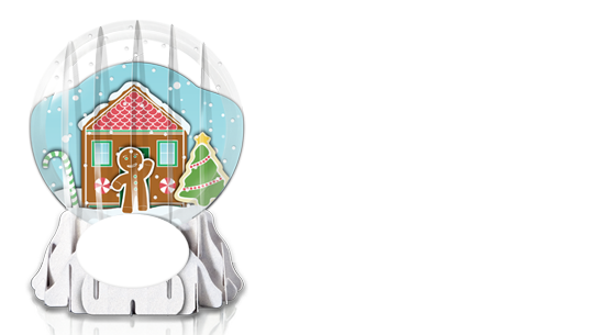 Gingerbread house globe business holiday greeting cards 3d paper gingerbread house globe business holiday greeting cards 3d paper greetings m4hsunfo